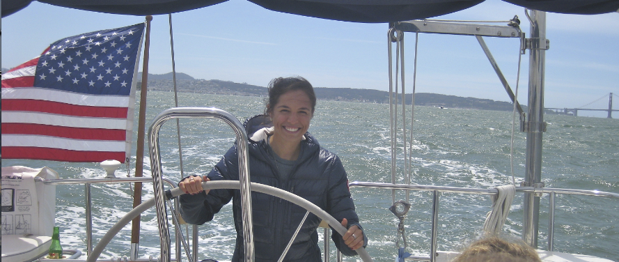 Lizzie sailing San Francisco