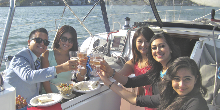 an engement party on San Francisco Bay
