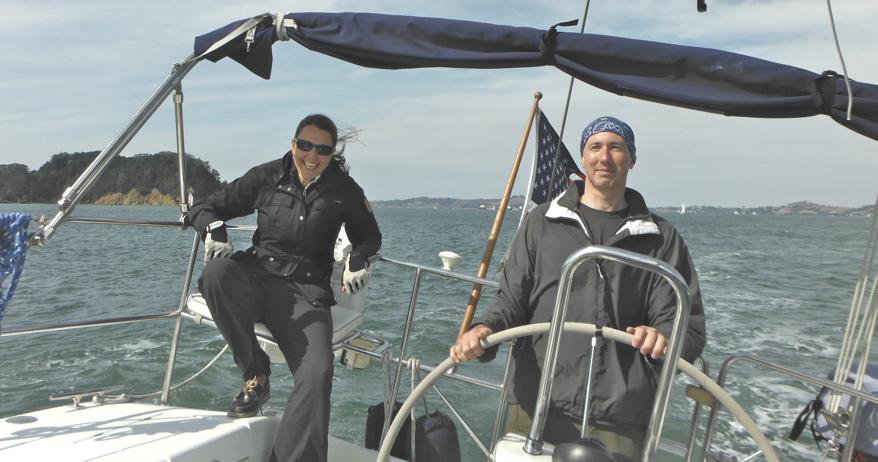 sailing sanfrancisco with Eva